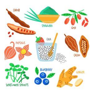 spiruline et fruits